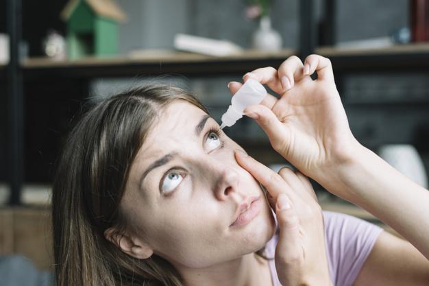colírio antibótico, anti-flamatório, vasoconstritor, lubrificante ou aintiglaucomatoso